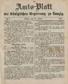 Amts-Blatt der Königlichen Regierung zu Danzig, 21. Januar 1888, Nr. 3