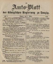 Amts-Blatt der Königlichen Regierung zu Danzig, 3. März 1888, Nr. 9