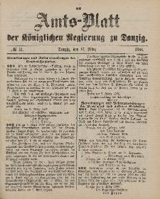 Amts-Blatt der Königlichen Regierung zu Danzig, 17. März 1888, Nr. 11