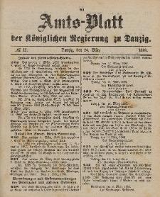 Amts-Blatt der Königlichen Regierung zu Danzig, 24. März 1888, Nr. 12