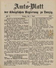 Amts-Blatt der Königlichen Regierung zu Danzig, 7. April 1888, Nr. 14