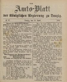 Amts-Blatt der Königlichen Regierung zu Danzig, 28. April 1888, Nr. 17