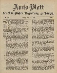 Amts-Blatt der Königlichen Regierung zu Danzig, 19. Mai 1888, Nr. 20