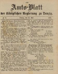 Amts-Blatt der Königlichen Regierung zu Danzig, 26. Mai 1888, Nr. 21