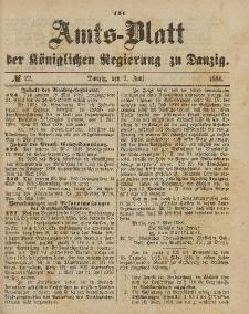 Amts-Blatt der Königlichen Regierung zu Danzig, 2. Juni 1888, Nr. 22