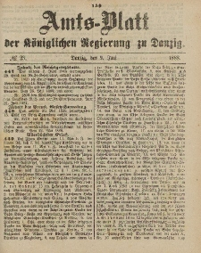 Amts-Blatt der Königlichen Regierung zu Danzig, 9. Juni 1888, Nr. 23