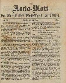 Amts-Blatt der Königlichen Regierung zu Danzig, 16. Juni 1888, Nr. 24
