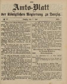 Amts-Blatt der Königlichen Regierung zu Danzig, 7. Juli 1888, Nr. 27
