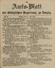 Amts-Blatt der Königlichen Regierung zu Danzig, 14. Juli 1888, Nr. 28