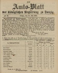 Amts-Blatt der Königlichen Regierung zu Danzig, 21. Juli 1888, Nr. 29