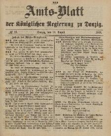 Amts-Blatt der Königlichen Regierung zu Danzig, 18. August 1888, Nr. 33