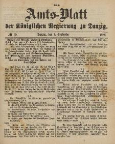 Amts-Blatt der Königlichen Regierung zu Danzig, 1. September 1888, Nr. 35