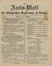 Amts-Blatt der Königlichen Regierung zu Danzig, 8. September 1888, Nr. 36