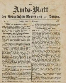 Amts-Blatt der Königlichen Regierung zu Danzig, 29. September 1888, Nr. 39