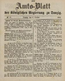 Amts-Blatt der Königlichen Regierung zu Danzig, 6. Oktober 1888, Nr. 40