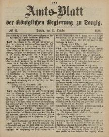 Amts-Blatt der Königlichen Regierung zu Danzig, 13. Oktober 1888, Nr. 41