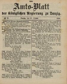 Amts-Blatt der Königlichen Regierung zu Danzig, 27. Oktober 1888, Nr. 43