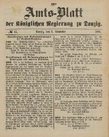 Amts-Blatt der Königlichen Regierung zu Danzig, 3. November 1888, Nr. 44