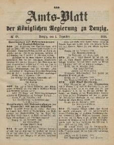 Amts-Blatt der Königlichen Regierung zu Danzig, 1. Dezember 1888, Nr. 48