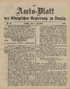 Amts-Blatt der Königlichen Regierung zu Danzig, 8. Dezember 1888, Nr. 49