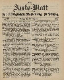 Amts-Blatt der Königlichen Regierung zu Danzig, 22. Dezember 1888, Nr. 51