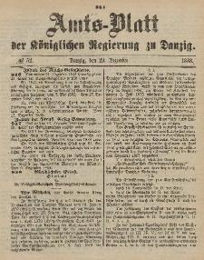 Amts-Blatt der Königlichen Regierung zu Danzig, 29. Dezember 1888, Nr. 52