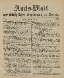 Amts-Blatt der Königlichen Regierung zu Danzig, 5. Januar 1889, Nr. 1