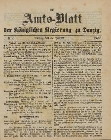 Amts-Blatt der Königlichen Regierung zu Danzig, 16. Februar 1889, Nr. 7
