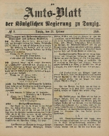 Amts-Blatt der Königlichen Regierung zu Danzig, 23. Februar 1889, Nr. 8