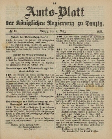 Amts-Blatt der Königlichen Regierung zu Danzig, 9. März 1889, Nr. 10