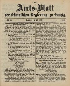 Amts-Blatt der Königlichen Regierung zu Danzig, 23. März 1889, Nr. 12