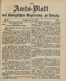 Amts-Blatt der Königlichen Regierung zu Danzig, 11. Mai 1889, Nr. 19