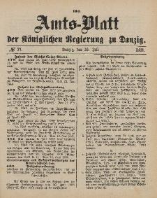 Amts-Blatt der Königlichen Regierung zu Danzig, 20. Juli 1889, Nr. 29