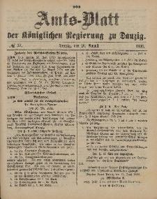 Amts-Blatt der Königlichen Regierung zu Danzig, 10. August 1889, Nr. 32