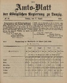 Amts-Blatt der Königlichen Regierung zu Danzig, 17. August 1889, Nr. 33