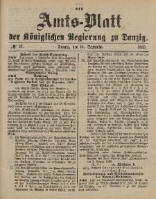 Amts-Blatt der Königlichen Regierung zu Danzig, 14. September 1889, Nr. 37