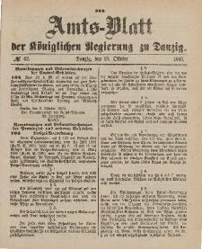 Amts-Blatt der Königlichen Regierung zu Danzig, 19. Oktober 1889, Nr. 42
