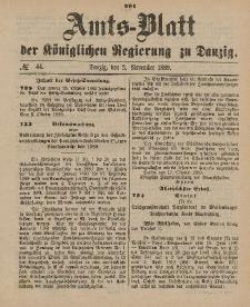 Amts-Blatt der Königlichen Regierung zu Danzig, 2. November 1889, Nr. 44