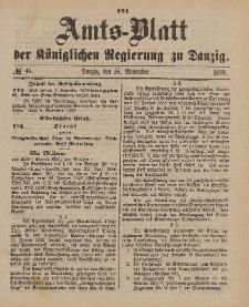 Amts-Blatt der Königlichen Regierung zu Danzig, 16. November 1889, Nr. 46