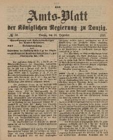 Amts-Blatt der Königlichen Regierung zu Danzig, 14. Dezember 1889, Nr. 50