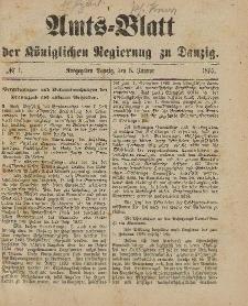 Amts-Blatt der Königlichen Regierung zu Danzig, 5. Januar 1895, Nr. 1