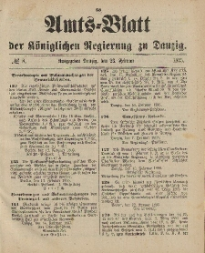 Amts-Blatt der Königlichen Regierung zu Danzig, 23. Februar 1895, Nr. 8