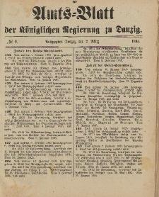 Amts-Blatt der Königlichen Regierung zu Danzig, 2. März 1895, Nr. 9