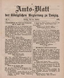 Amts-Blatt der Königlichen Regierung zu Danzig, 15. Januar 1881, Nr. 3