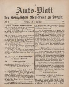 Amts-Blatt der Königlichen Regierung zu Danzig, 5. Februar 1881, Nr. 6
