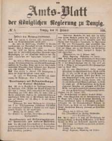 Amts-Blatt der Königlichen Regierung zu Danzig, 19. Februar 1881, Nr. 8