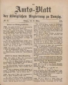 Amts-Blatt der Königlichen Regierung zu Danzig, 19. März 1881, Nr. 12