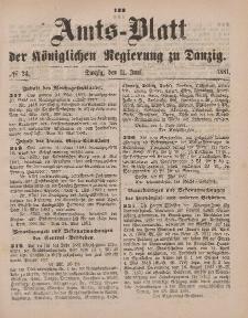 Amts-Blatt der Königlichen Regierung zu Danzig, 11. Juni 1881, Nr. 24