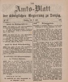 Amts-Blatt der Königlichen Regierung zu Danzig, 2. Juli 1881, Nr. 27