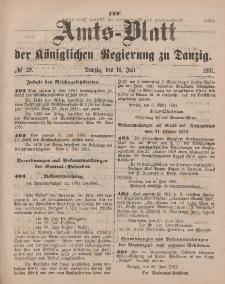 Amts-Blatt der Königlichen Regierung zu Danzig, 16. Juli 1881, Nr. 29